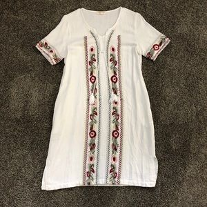 Perfect summer embroidered dress